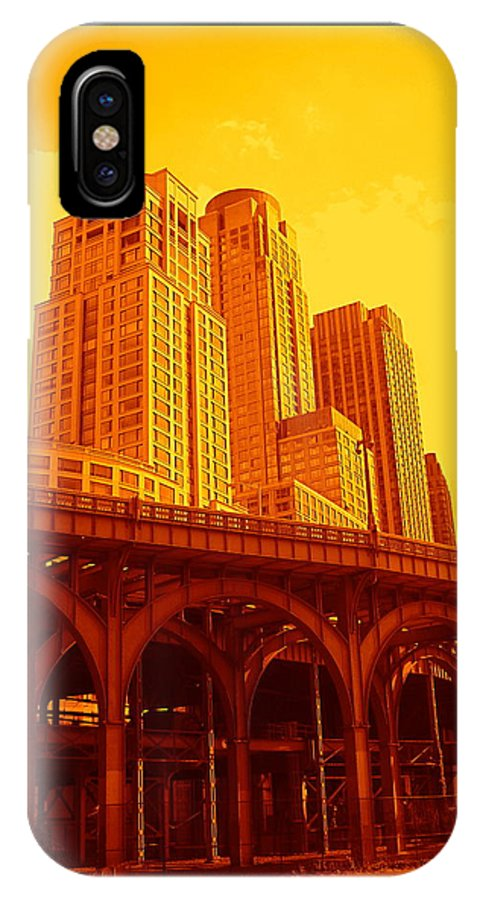 Manhattan Prints And Posters IPhone X Case featuring the photograph Upper West Side And Hudson River Manhattan by Monique's Fine Art