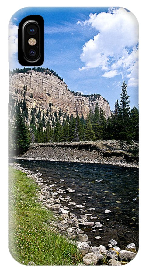 Landscape IPhone X Case featuring the photograph Upriver In Washake Wilderness by Kathy McClure