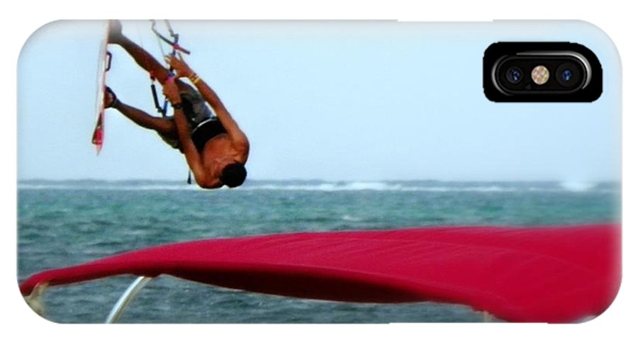 Wind Surfing IPhone X Case featuring the photograph Upside Down World by Karen Wiles
