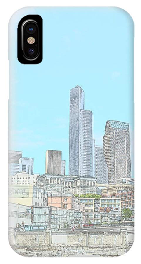 Seattle IPhone X Case featuring the photograph Uptown by Monica Cuevas