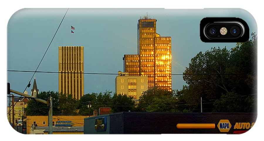 Banks IPhone X Case featuring the photograph Uptown View by Darrell Clakley
