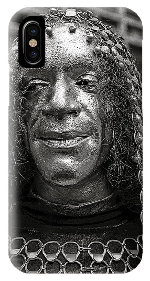 Portrait IPhone X Case featuring the photograph Urban Knight by Hal Norman K