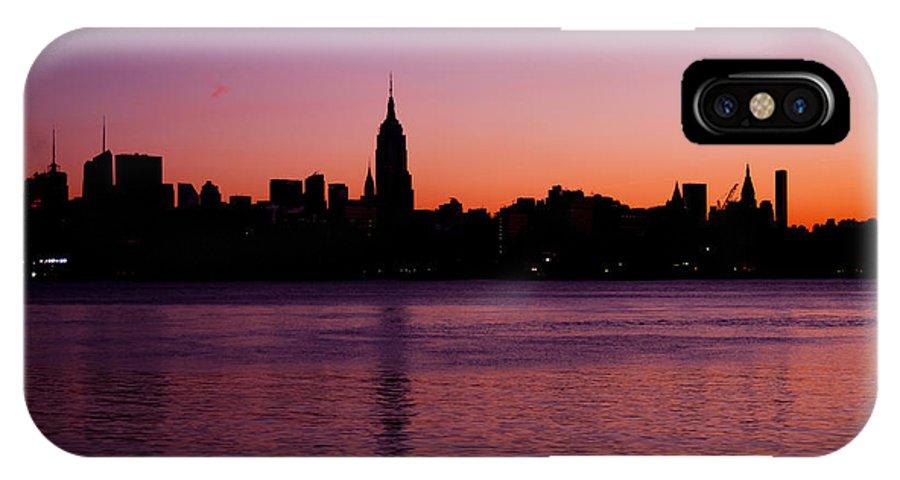 Manhattan IPhone X Case featuring the photograph Urban Sunrise by Michael Dorn