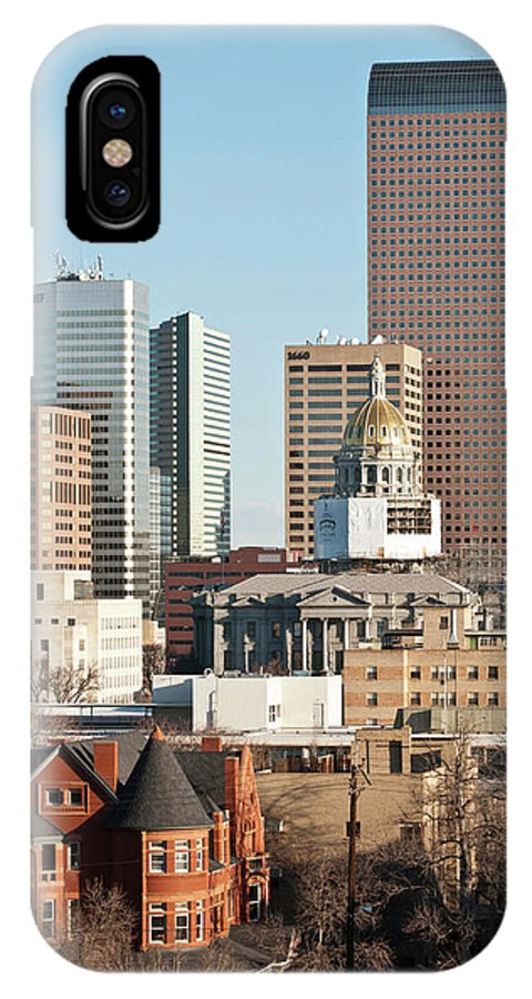 Building IPhone X Case featuring the photograph Usa, Co, Denver Restoration by Trish Drury
