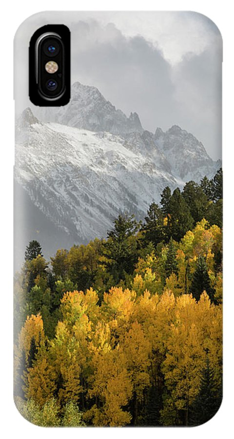 Aspen IPhone X Case featuring the photograph Usa, Colorado, Sneffels Range by Jaynes Gallery