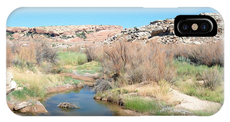 Moab IPhone X Case featuring the photograph Utah Landscape by Tracy Winter