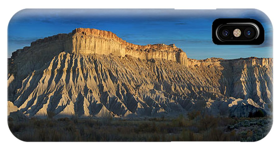 Landscape IPhone X Case featuring the photograph Utah Outback 40 Panoramic by Mike McGlothlen