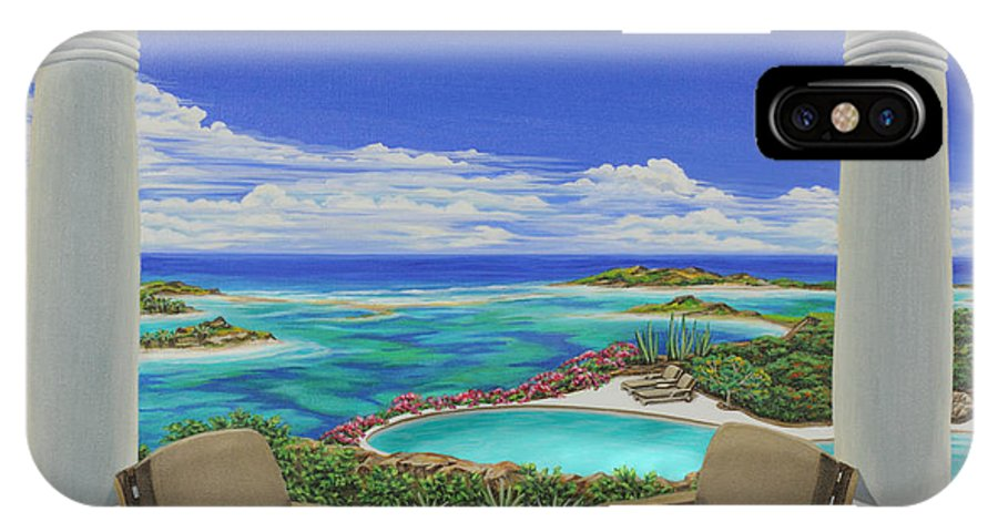Ocean IPhone Case featuring the painting Vacation View by Jane Girardot