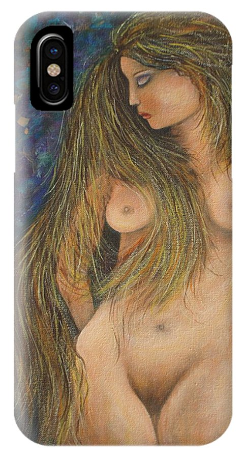 Woman IPhone Case featuring the painting Valencina by Natalie Holland