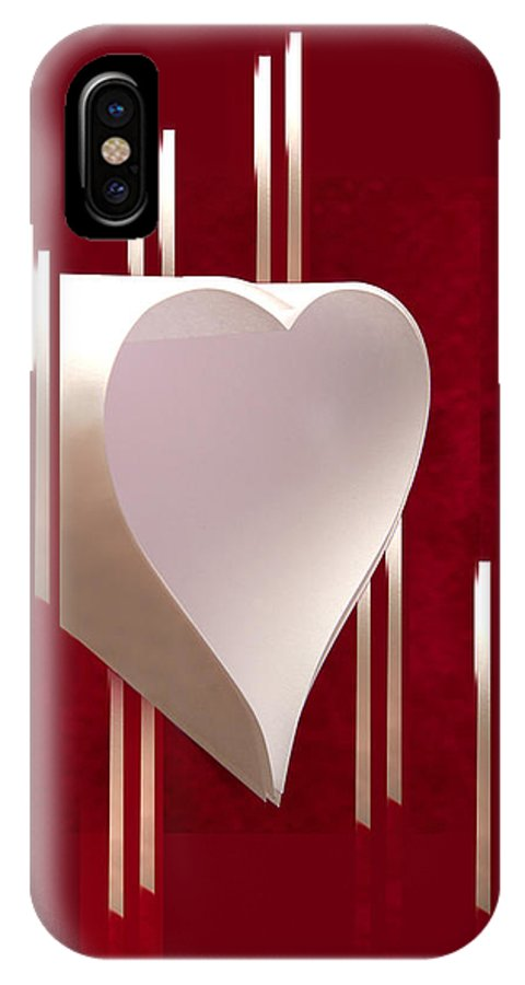 Valentine IPhone X Case featuring the photograph Valentine Paper Heart by Gary Eason