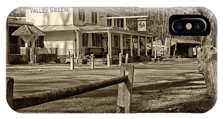Valley Green Inn IPhone X Case featuring the photograph Valley Green Inn 2 by Jack Paolini