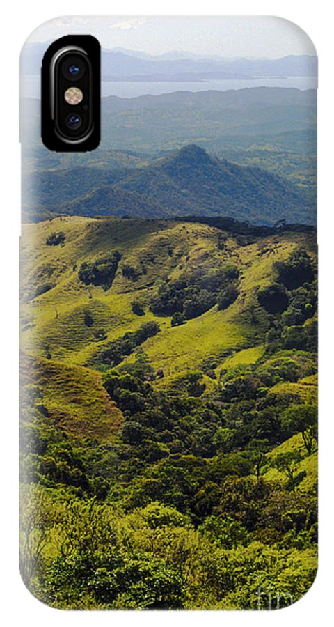 Monteverde Costa Rica Mountain Mountains Valley Valleys Tree Trees Nature Landscape Landscapes IPhone X Case featuring the photograph Valleys And Mountains by Bob Phillips