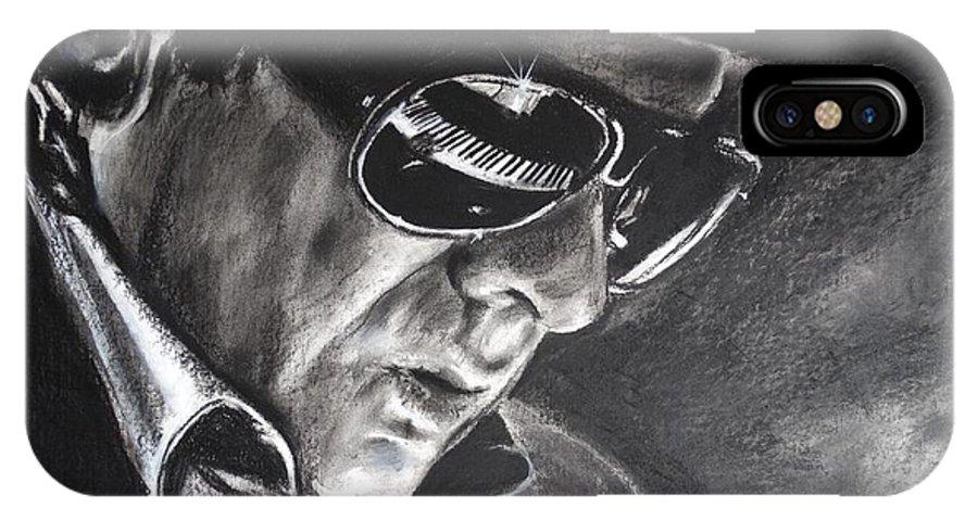 George Ivan Morrison. Van Morrison IPhone X Case featuring the drawing Van Morrison - Belfast Cowboy by Eric Dee