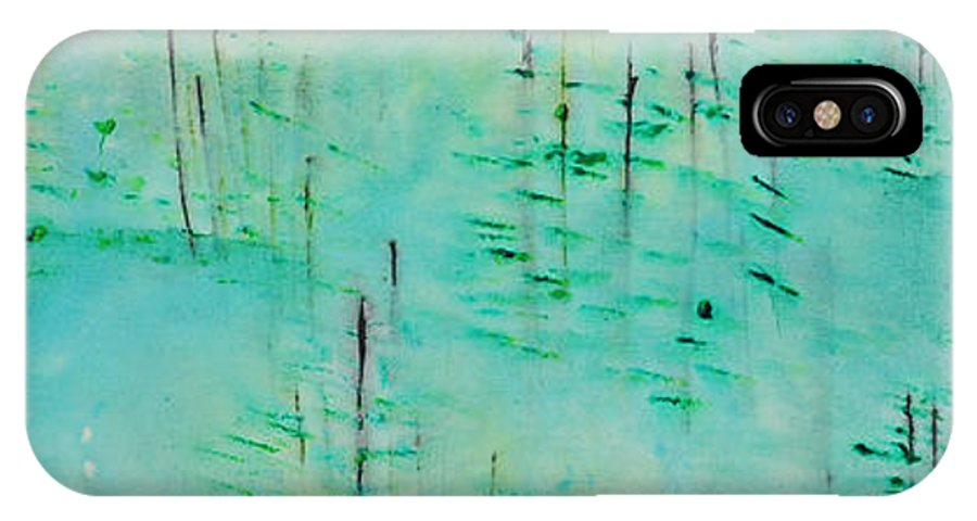 Outdoors IPhone X Case featuring the painting Vancouver Island by Paulette B Wright
