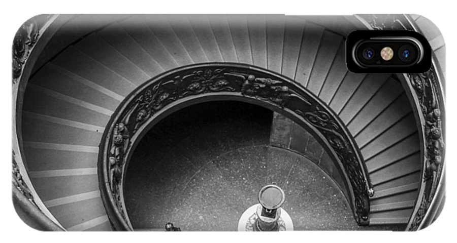 3scape Photos IPhone X Case featuring the photograph Vatican Stairs by Adam Romanowicz