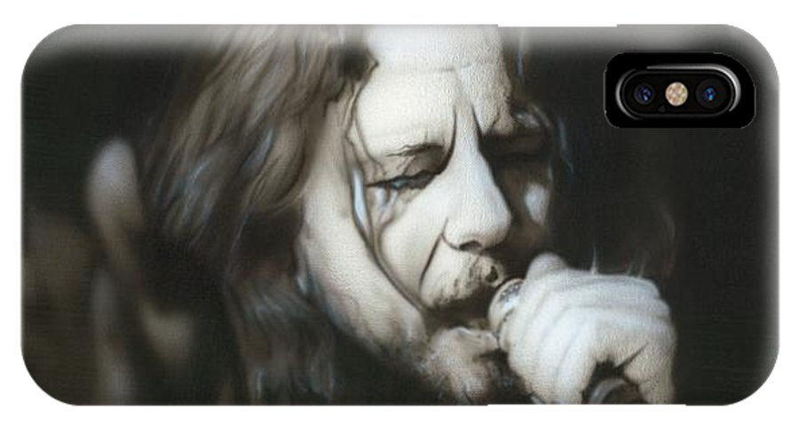 Seattle IPhone X Case featuring the painting Vedder IIi by Christian Chapman Art