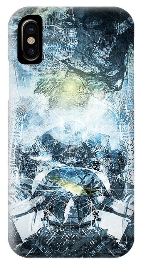 Art IPhone X / XS Case featuring the digital art Veiled Essence by Nathan Benmargi