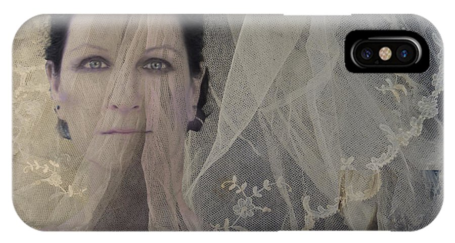 Faces IPhone X Case featuring the digital art Veiletta by Angelika Drake