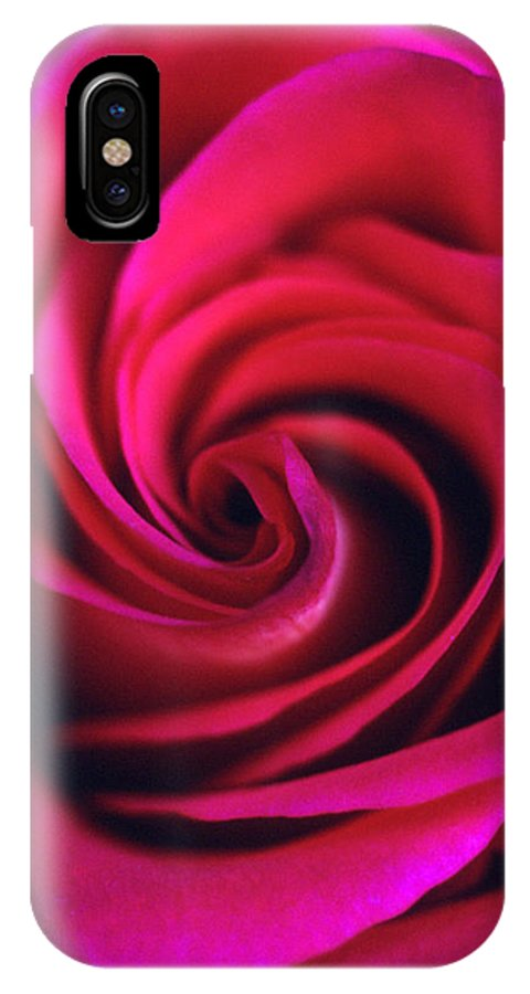 Flowers IPhone X Case featuring the photograph Velvet Rose by Kathy Yates