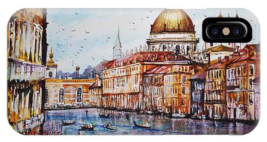 Venetian Paradise IPhone X / XS Case featuring the painting Venetian Paradise by Dariusz Orszulik