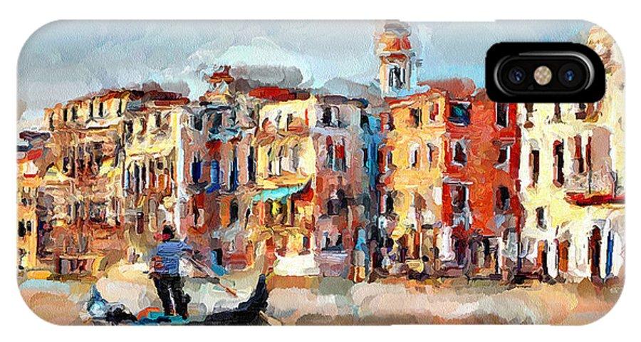 Venice IPhone X Case featuring the digital art Venice 14 by Yury Malkov