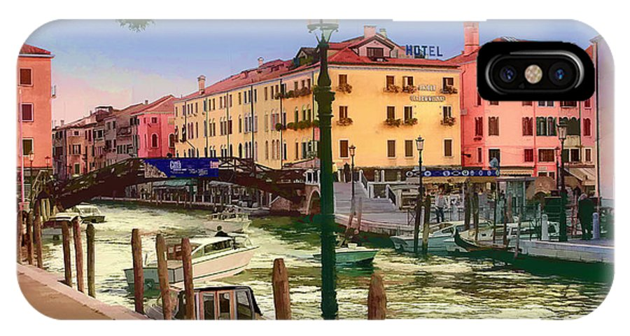 Italy IPhone X Case featuring the photograph Venice Canal by Timothy Hacker