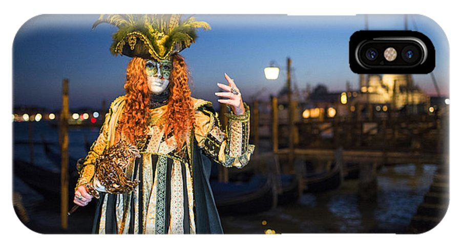 Venice Carnival IPhone X Case featuring the photograph Venice Carnival '15 Vi by Yuri San