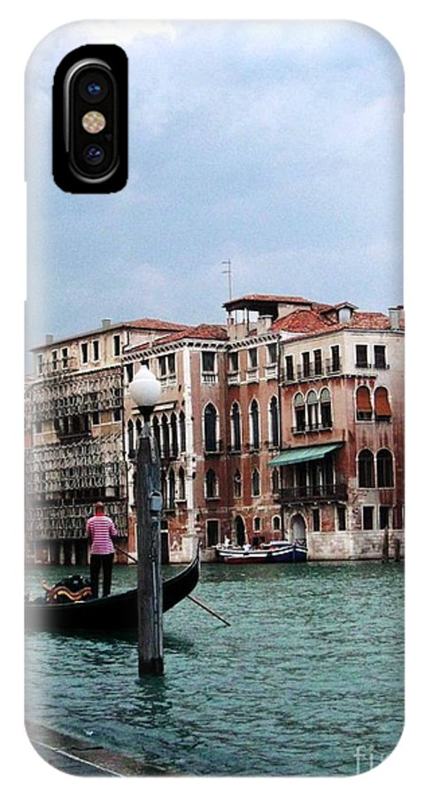 Venice Paintings IPhone X Case featuring the photograph Venice Gondola by Sandy MacNeil