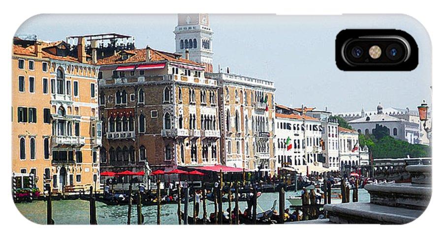 Italy IPhone X Case featuring the photograph Venice Gondolas On Canal Grande by Irina Sztukowski