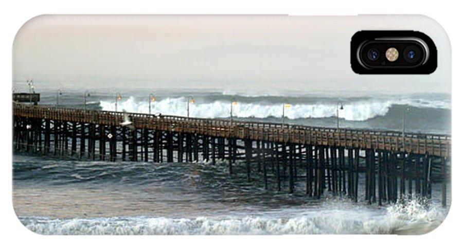 Beach IPhone X Case featuring the photograph Ventura Storm Pier by Henrik Lehnerer
