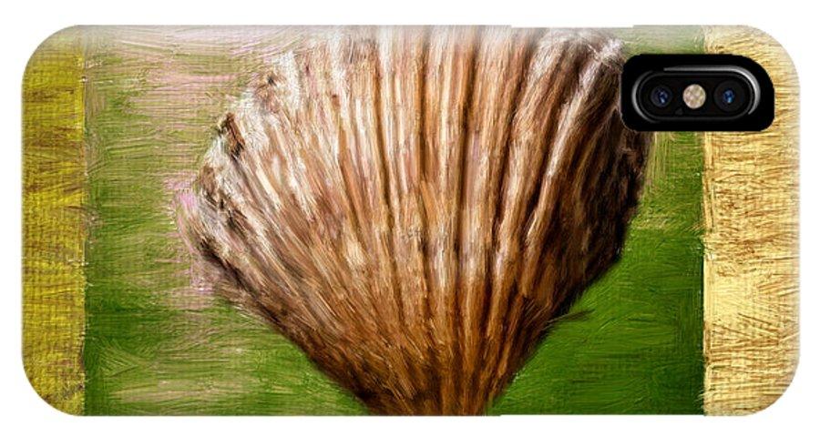 Green IPhone X Case featuring the digital art Verde Beach by Lourry Legarde