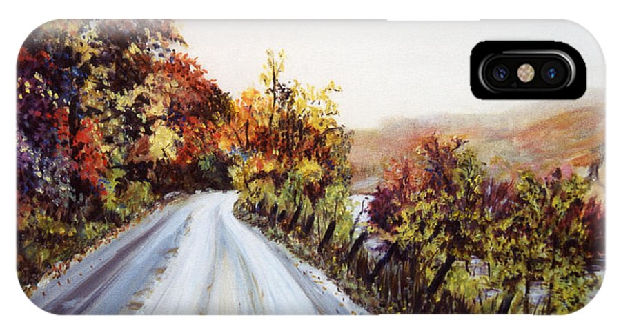 Vermont Road IPhone X / XS Case featuring the painting Vermont Road by Pamela Parsons