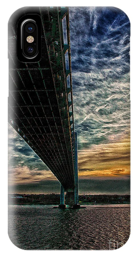 Verrazano Bridge IPhone X Case featuring the photograph Verrazano Bridge by Michael Thomas