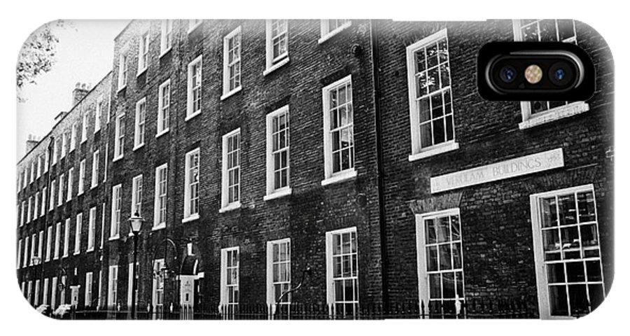 Grays IPhone X Case featuring the photograph verulam buildings grays inn London England UK by Joe Fox