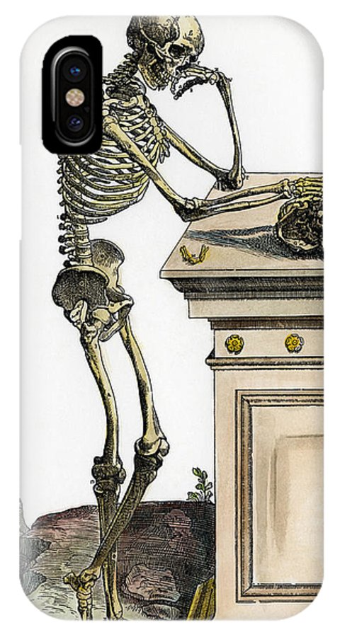 1543 IPhone X Case featuring the photograph Vesalius: Skeleton, 1543 by Granger