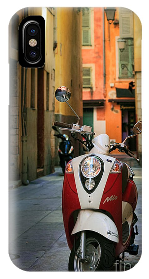 Cote Azur IPhone X Case featuring the photograph Nicoise Scooter by Inge Johnsson