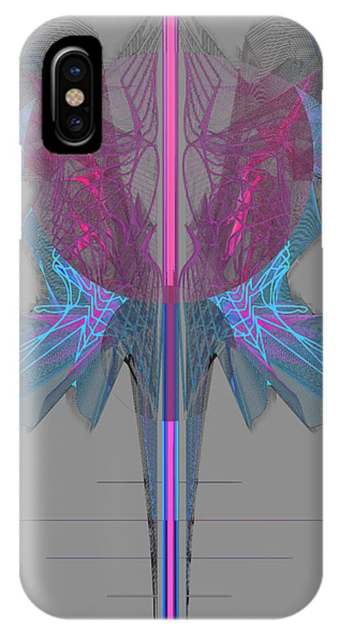 Ping IPhone X Case featuring the digital art Vibrant Expressions II by Magda Ziemak