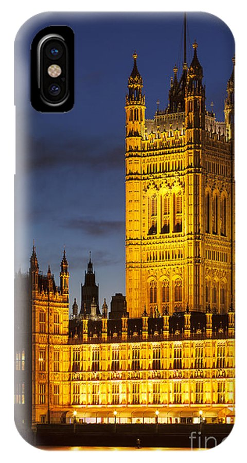 Architectural IPhone X Case featuring the photograph Victoria Tower - London by Brian Jannsen