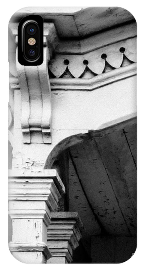 Trim IPhone X / XS Case featuring the photograph Victorian Moulding by Pamela Taylor
