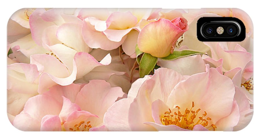Rose IPhone X Case featuring the photograph Victorian Pink Roses Bouquet by Jennie Marie Schell