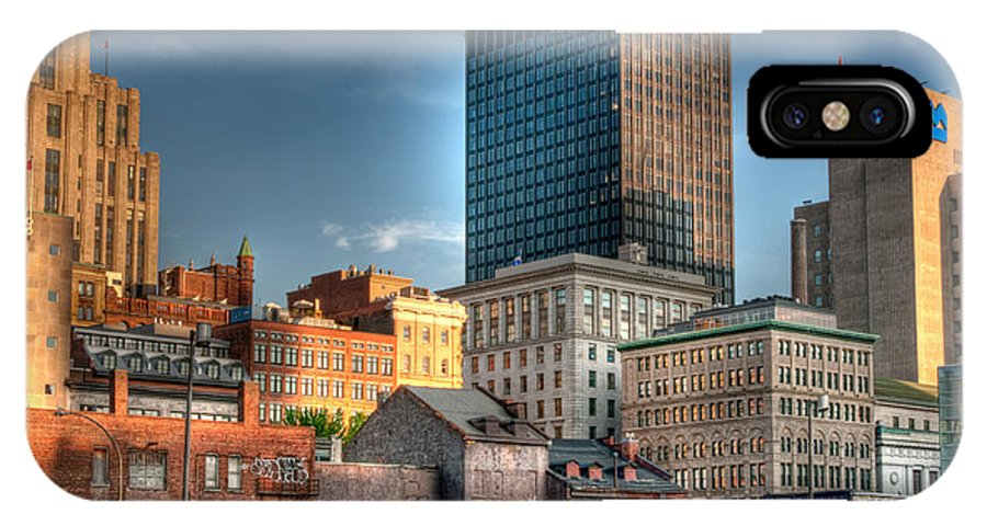 Old IPhone X Case featuring the photograph vieux Montreal by Elisabeth Van Eyken