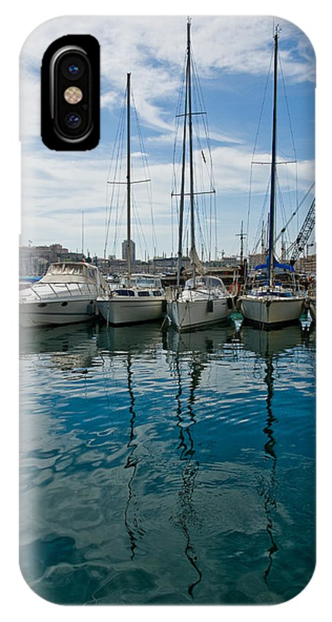 France IPhone X Case featuring the photograph Vieux Port by Oleg Koryagin