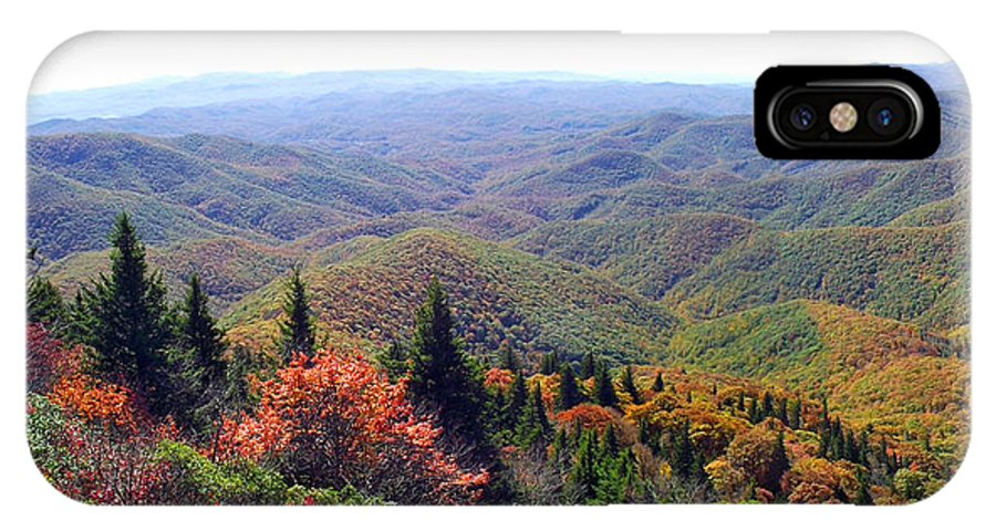 Duane Mccullough IPhone X Case featuring the photograph View From Devil's Courthouse Mountain by Duane McCullough