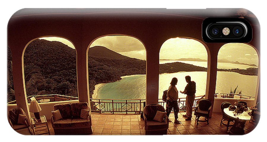 Arch IPhone X Case featuring the photograph View From Hawks Nest Villa In Virgin Islands by Carl Purcell