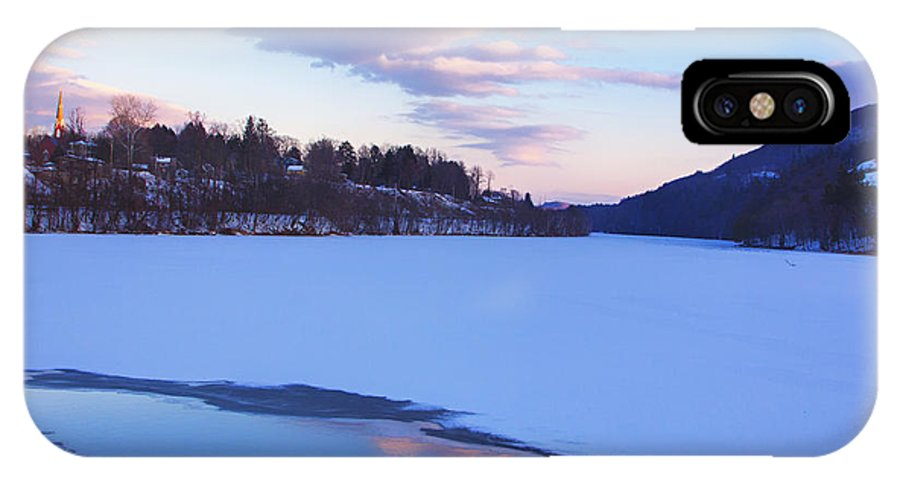 Brattleboro Vermont IPhone X Case featuring the photograph View From Hinsdale Bridge by Tom Singleton
