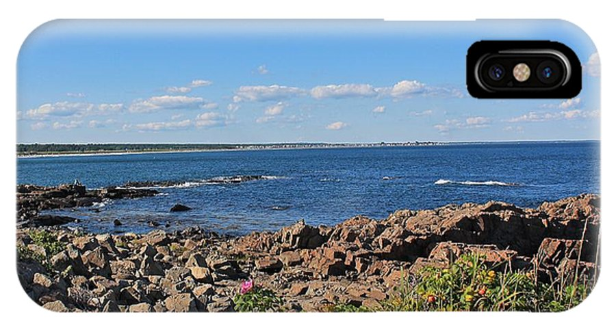 Maine IPhone X Case featuring the photograph View From Marginal Way Ogunquit Maine 3 by Michael Saunders