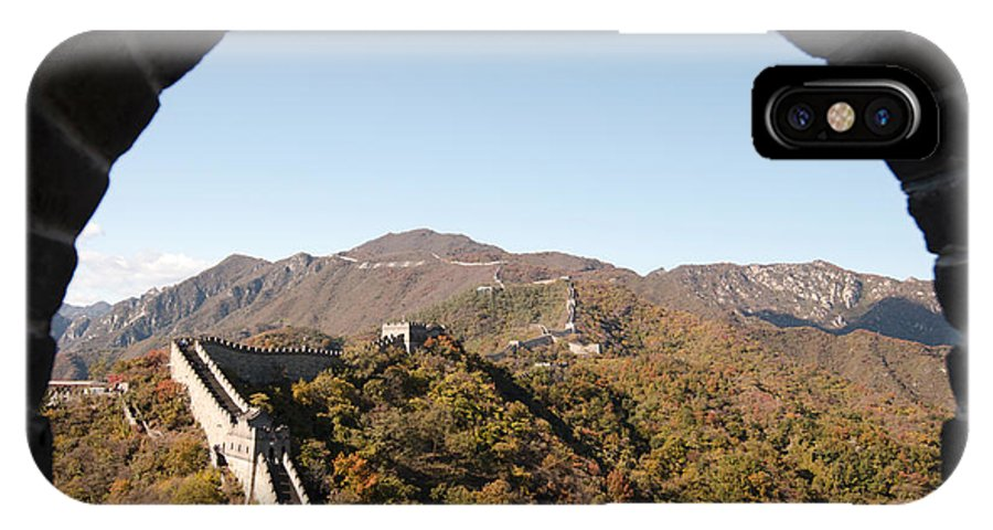 Window View IPhone X Case featuring the photograph View From The Great Wall 696 by Terri Winkler