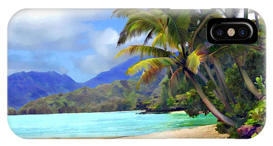 Hawaii IPhone X Case featuring the photograph View From Waicocos by Kurt Van Wagner