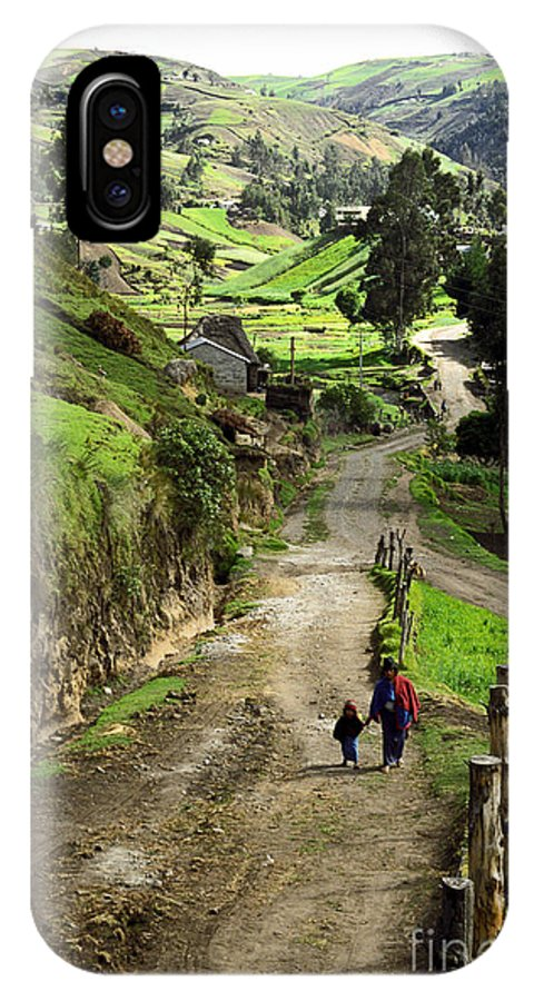 Ecuador IPhone X Case featuring the photograph View Of Lupaxi by Kathy McClure
