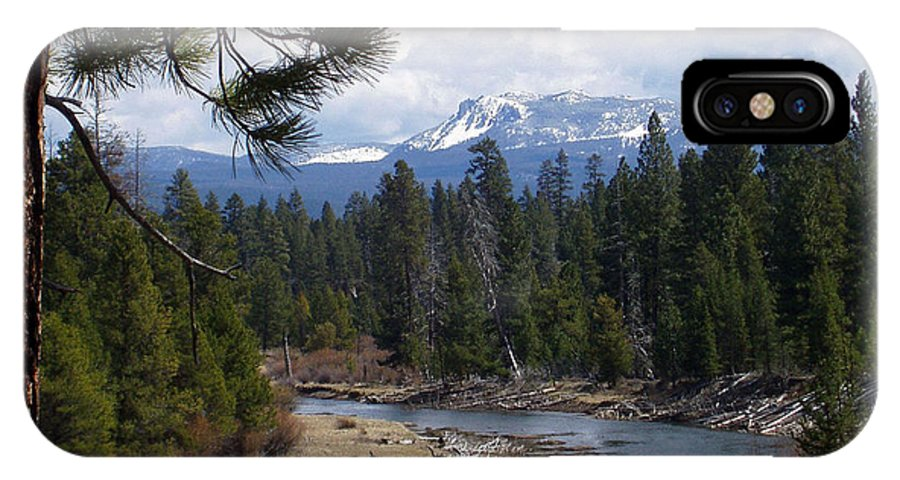 River IPhone X Case featuring the photograph View To Paulina Peak by Carolyn Waissman